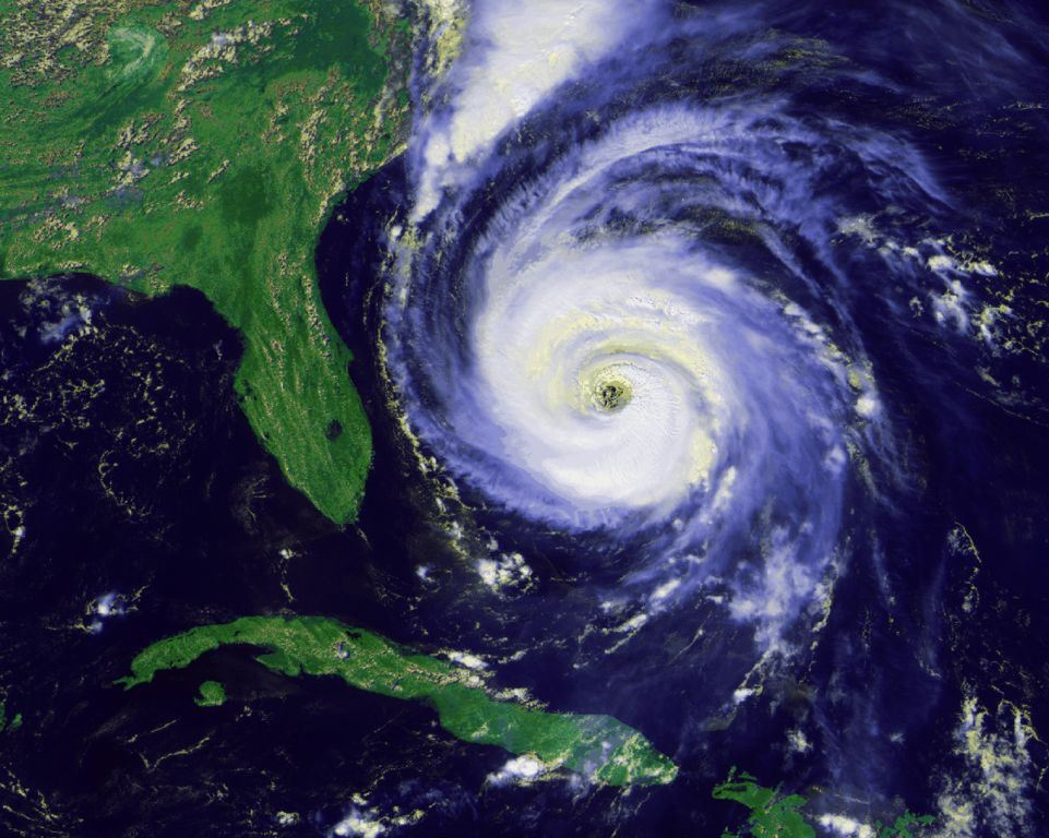 Hurricane forming off the southwest coast of Florida