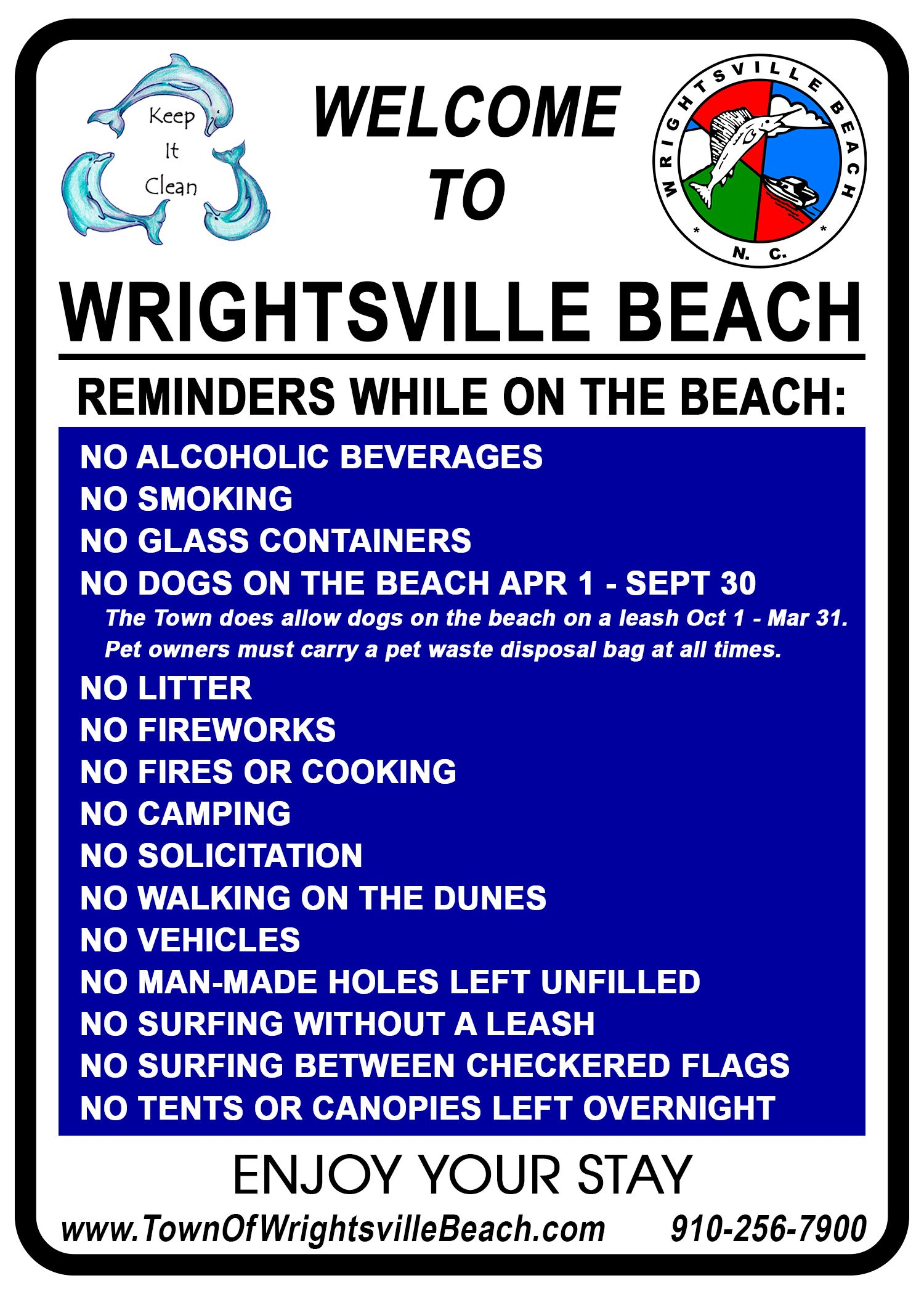 Welcome to WB Beach Sign