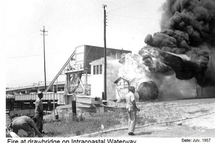 History Fire At Old Drawbridge July 1957 420x280 Thumb Wrightsville Beach