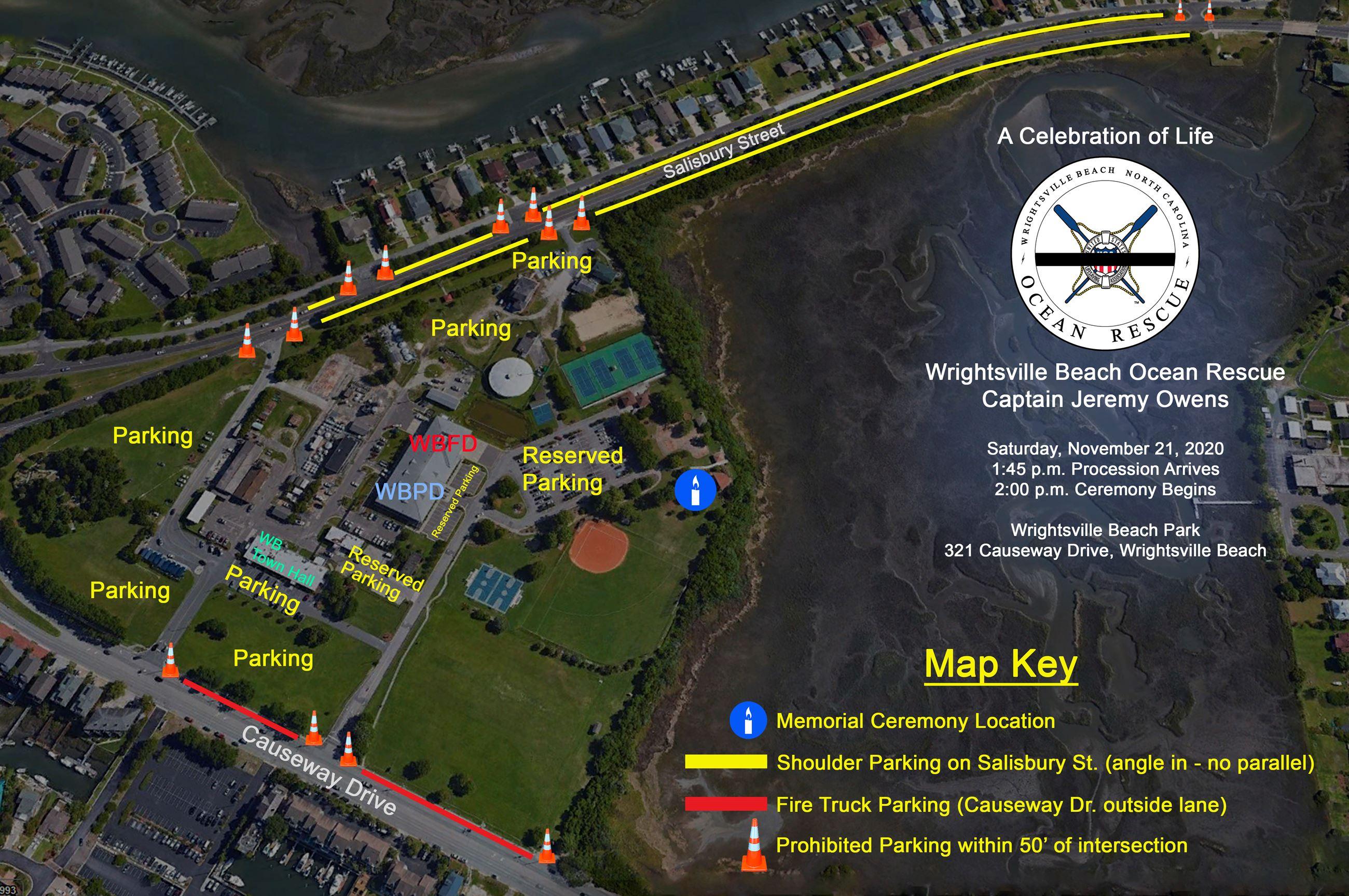 JO Memorial Parking Map
